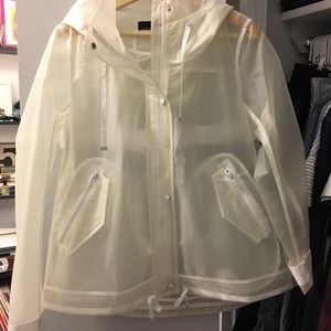 Zara transparent rain coat